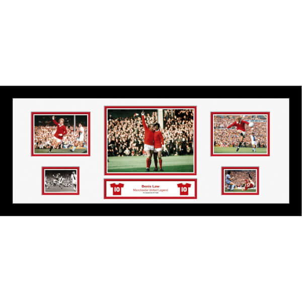 Denis Law Signed and Framed Storyboard
