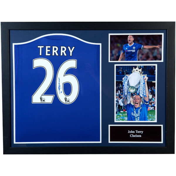 John Terry Signed and Framed Chelsea Shirt