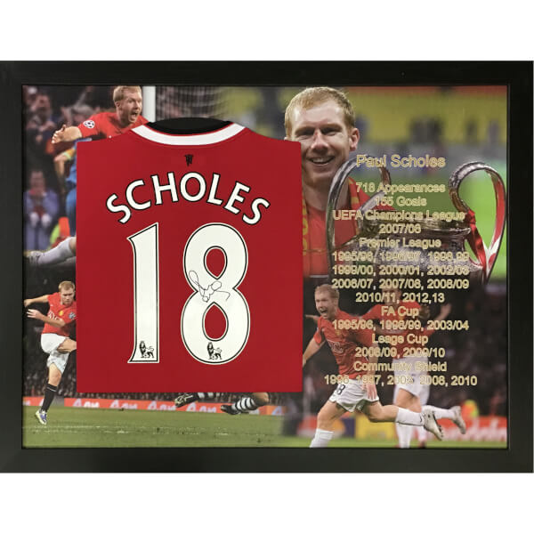 Paul Scholes Signed and Framed Shirt