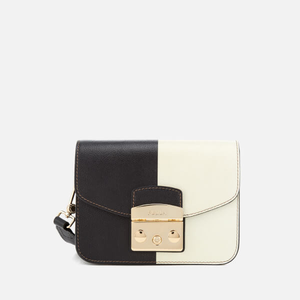 Furla Women's Metropolis Mini Cross Body Bag - Black/White: Image 1