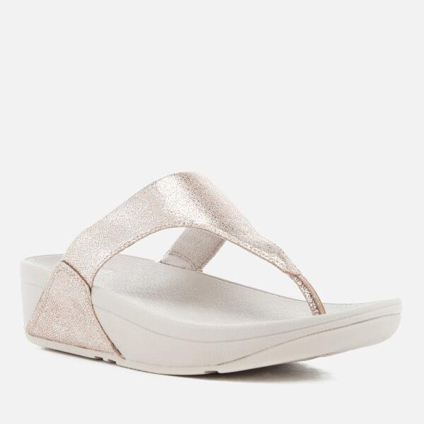 d9b80ec9e4e FitFlop Women s Shimmy Suede Toe-Post Sandals - Silver  Image 2