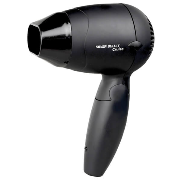 Silver Bullet Cruise Worldwide Use Black Hair Dryer With
