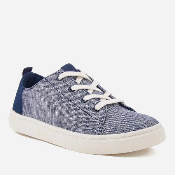 TOMS Kids' Lenny Chambray Trainers - Navy