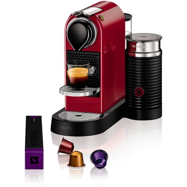 nespresso by krups xn760540 citiz milk coffee machine red iwoot. Black Bedroom Furniture Sets. Home Design Ideas