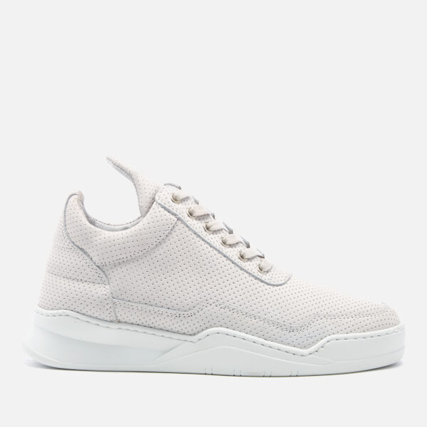 Filling pieces Women's Ghost Perforated Suede Low Top Trainers - - UK 3 7OB9c1XN