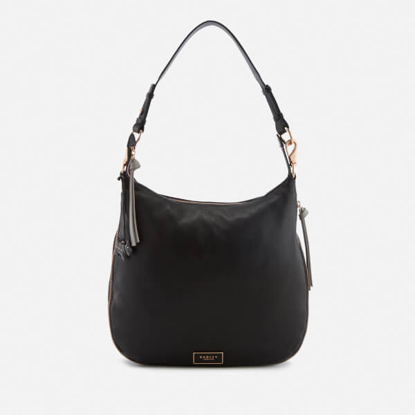 Radley Women's Pudding Lane Large Ziptop Hobo Bag - Black/Rose