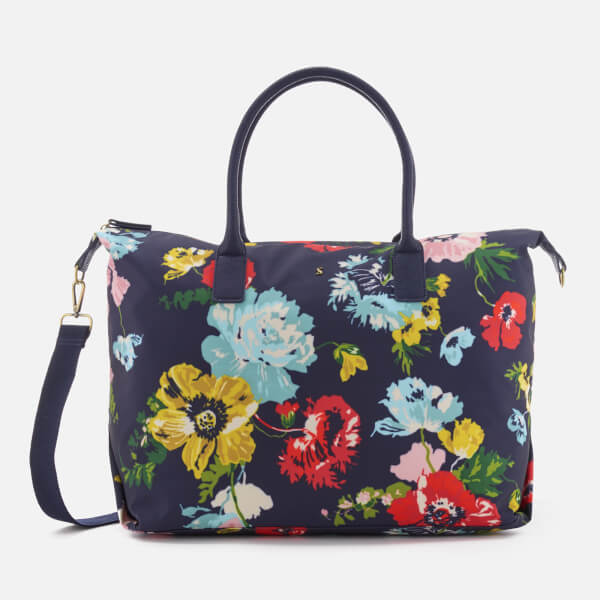 Joules Women's Kembry Printed Canvas Weekend Bag - French Navy Posy