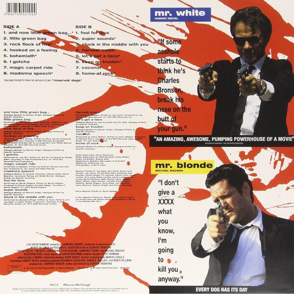 Reservoir Dogs Original Soundtrack Vinyl Merchandise Zavvi