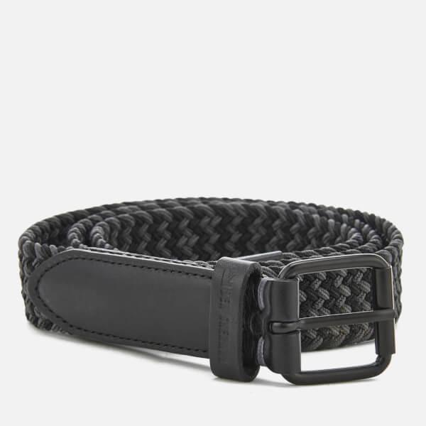 Ben Sherman Men's Barbican Plaited Belt - Black/Grey