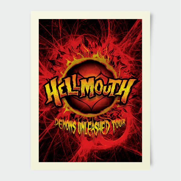 Poster Buffy Contre les Vampires Démons Hellmouth 30 x 40 cm