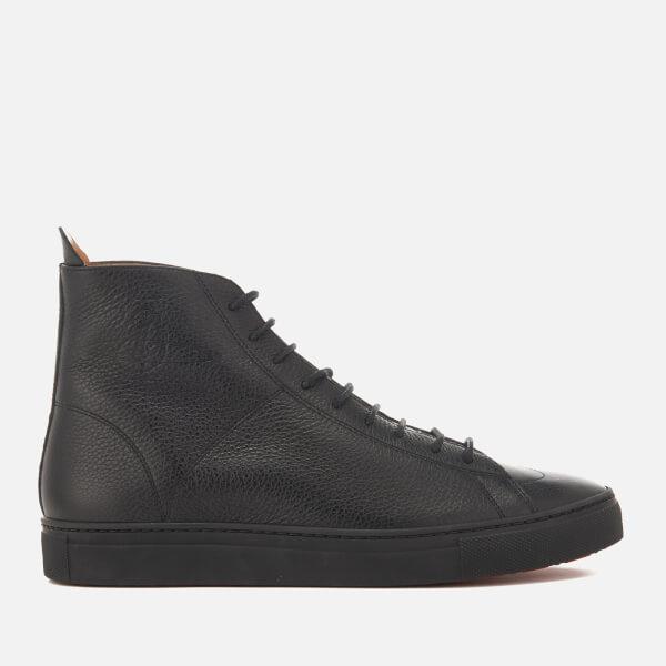 Vivienne Westwood MAN Men's Grain Leather Hi-Top Trainers - Black