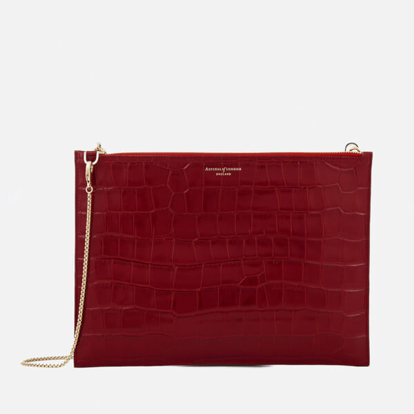 Aspinal of London Women's Soho Pouch Bag - Red