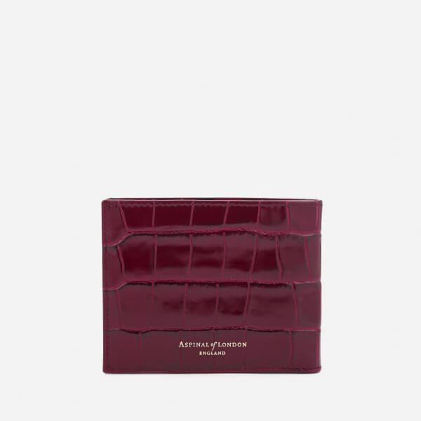 4627a8e38503 Aspinal of London Men s Billfold Wallet - Bordeaux Mens Accessories ...