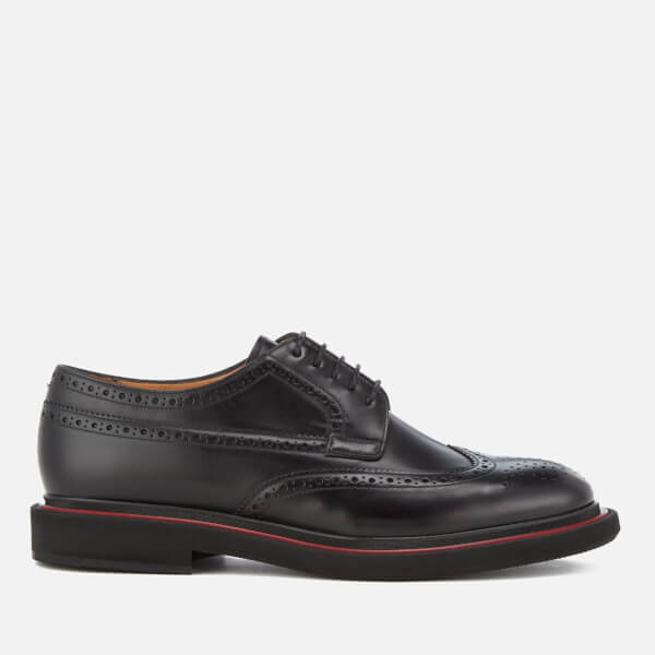PS by Paul Smith Men's Junior Burnished Leather Brogues - Black