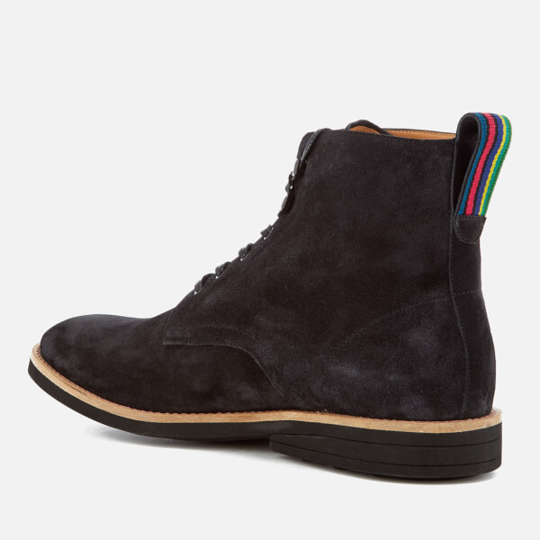 Paul Smith Men's Hamilton Suede Lace Up Boots - Anthracite - UK 11 KxI1U