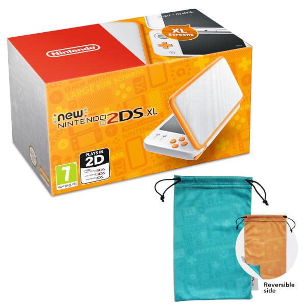 New Nintendo 2DS XL White and Orange