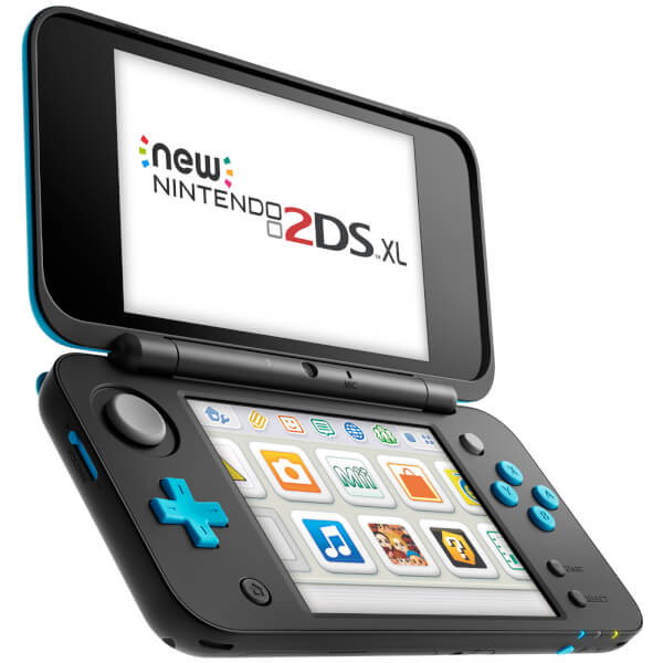 new nintendo 2ds xl black and turquoise games consoles zavvi