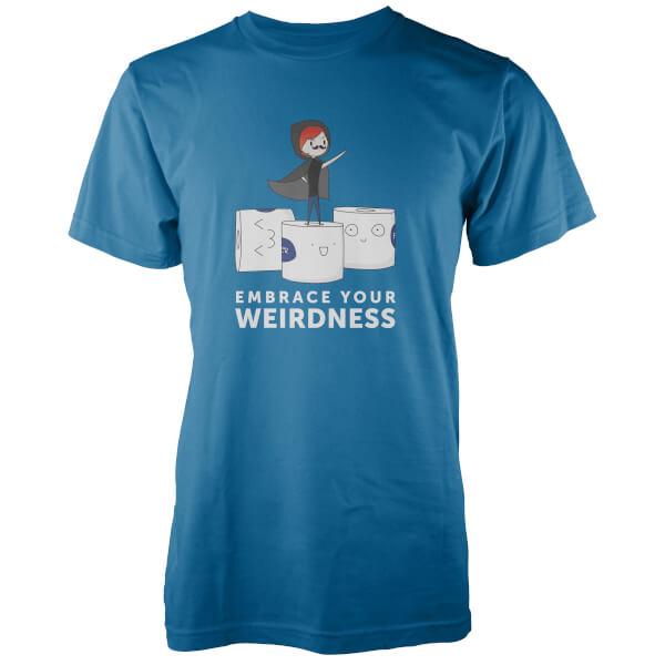 Embrace Your Weirdness Men's Blue T-Shirt