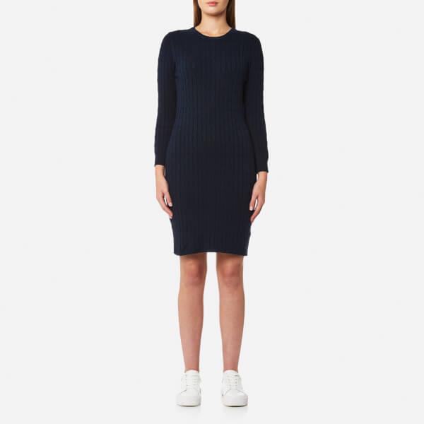 GANT Women's Stretch Cotton Cable Dress - Evening Blue