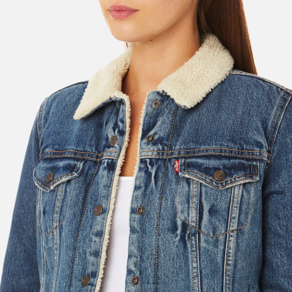 Levi's Women's Original Sherpa Trucker Jacket - Extremely Loveable - Free UK Delivery over £50