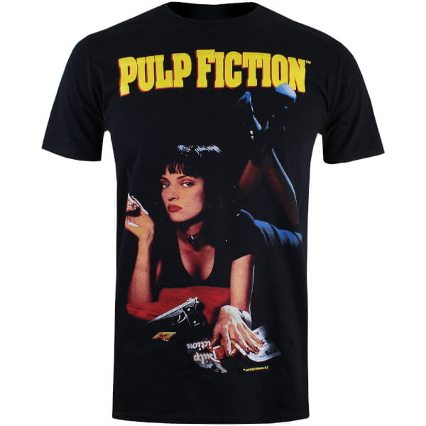 Pulp Fiction Men's Uma Poster T-Shirt - Black