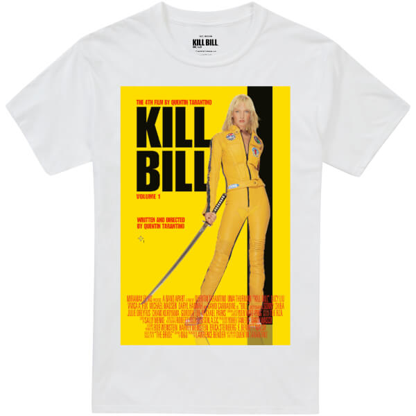 Kill Bill Men's Movie Poster T-Shirt - White