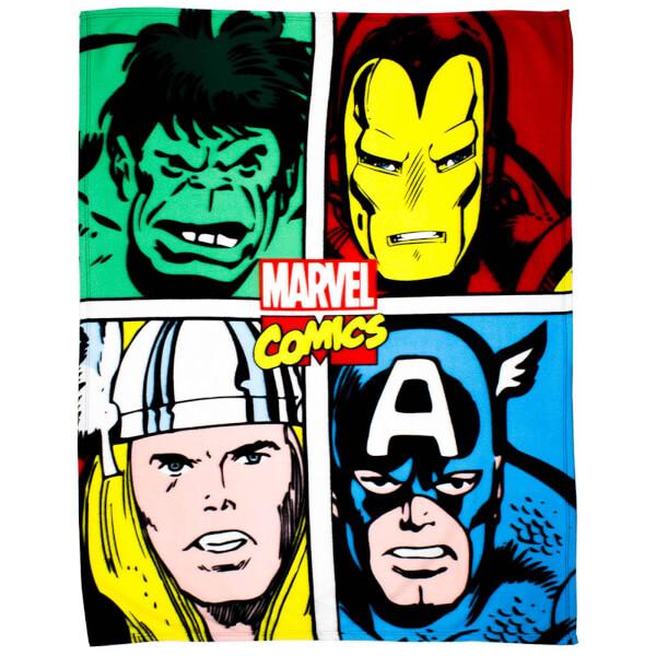 Disney Marvel Comics Strike Fleece Blanket