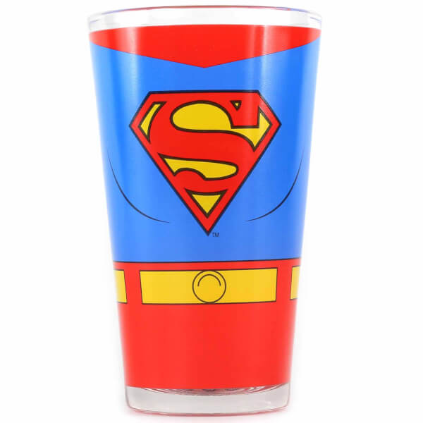 DC Comics Superman Large Glass in Gift Box
