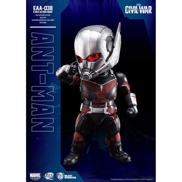 Beast Kingdom Marvel Captain America Civil War Egg Attack Ant-Man 16cm Action Figure