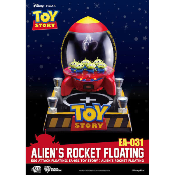 Beast Kingdom Disney Toy Story Egg Attack Alien's Floating Rocket Model with Light up Function 18cm