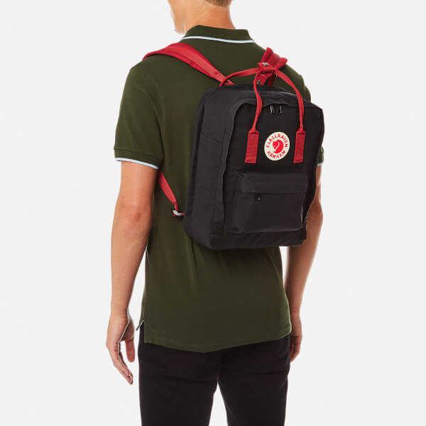 fjällräven kanken black ox red