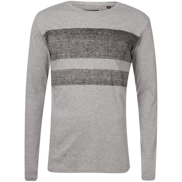 Troy Men's Jam Long Sleeve T-Shirt - Light Grey Marl