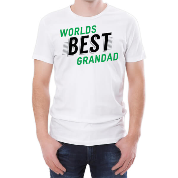 World's Best Grandad Men's White T-Shirt