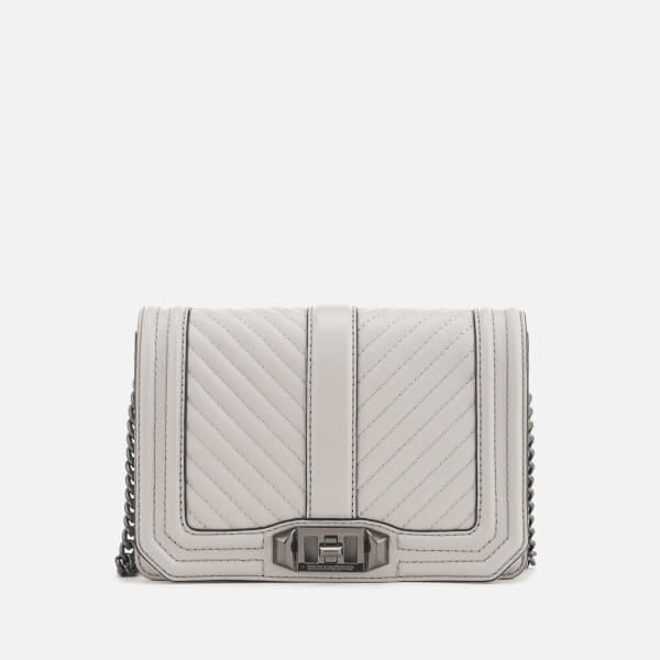 Rebecca Minkoff Women's Chevron Quilted Cross Body Bag - Putty