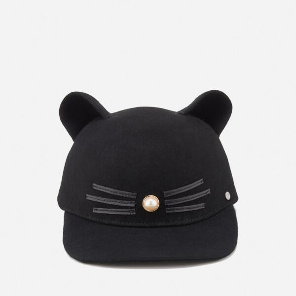 Karl Lagerfeld Women's K/Cat Pearl Cap - Black