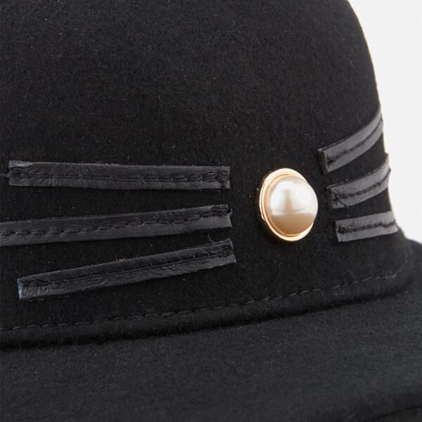 Karl Lagerfeld Women s K Cat Pearl Cap - Black Womens Accessories ... 084006b3ec9