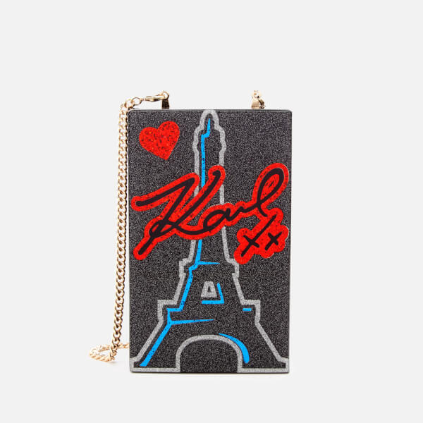 Karl Lagerfeld Women's Love From Paris Minaudiere Bag - Black