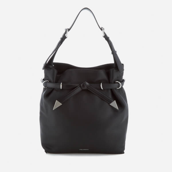 Karl Lagerfeld Women's K/Rocky Bow Drawstring Bag - Black