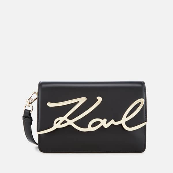 Karl Lagerfeld Women's K/Metal Signature Shoulder Bag - Black