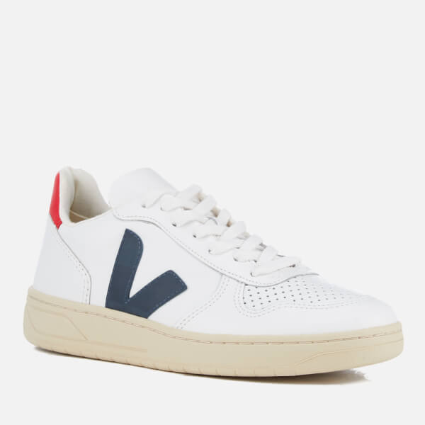 Purchase V-10 Leather Lace-Up Trainers Veja Best Place Sale Online nwzlJP