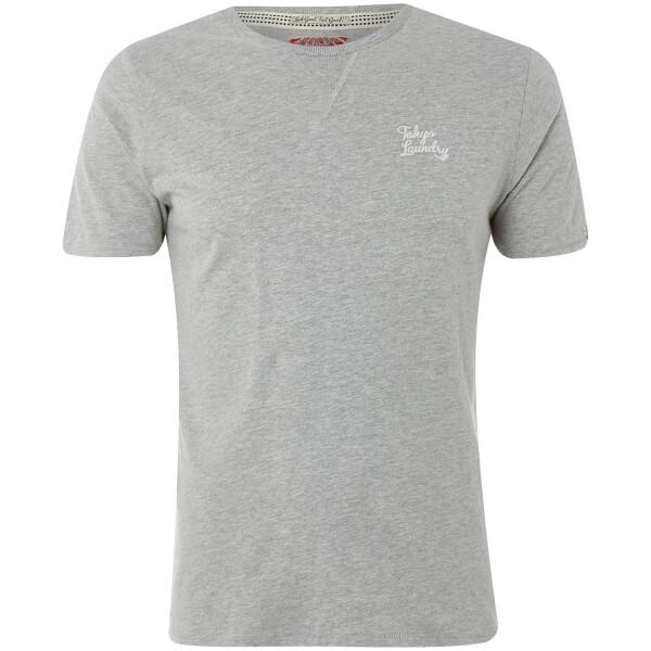 Tokyo Laundry Men's Hemsby Jersey T-Shirt - Light Grey Marl