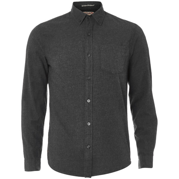 Tokyo Laundry Men's Westbridge Twill Long Sleeve Shirt - Dark Grey