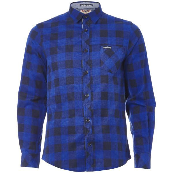 Tokyo Laundry Men's Alhambra Flannel Long Sleeve Shirt - Navy