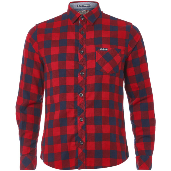 Tokyo Laundry Men's Alhambra Flannel Long Sleeve Shirt - Red