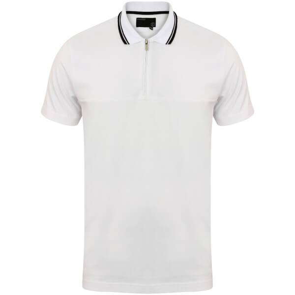 Dissident Men's Henstridge Half Panel Polo Shirt - White