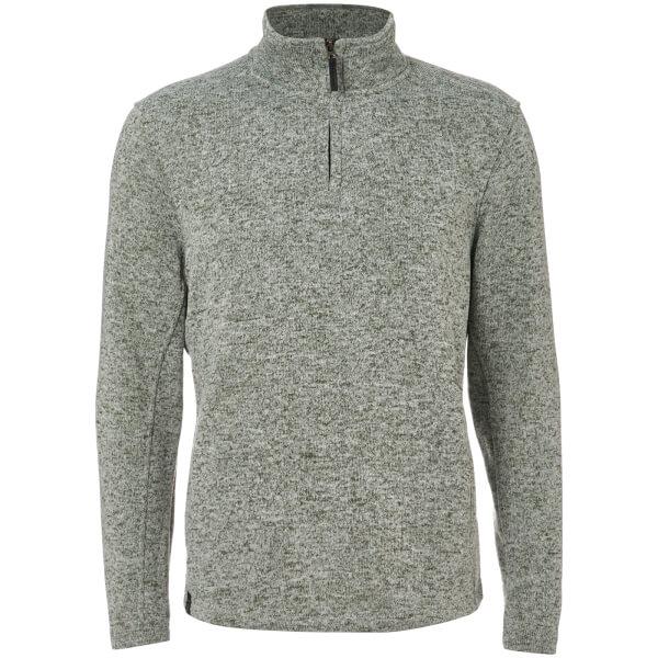 Dissident Men's Canterbury Zip Down Sweatshirt - Grey Fleck