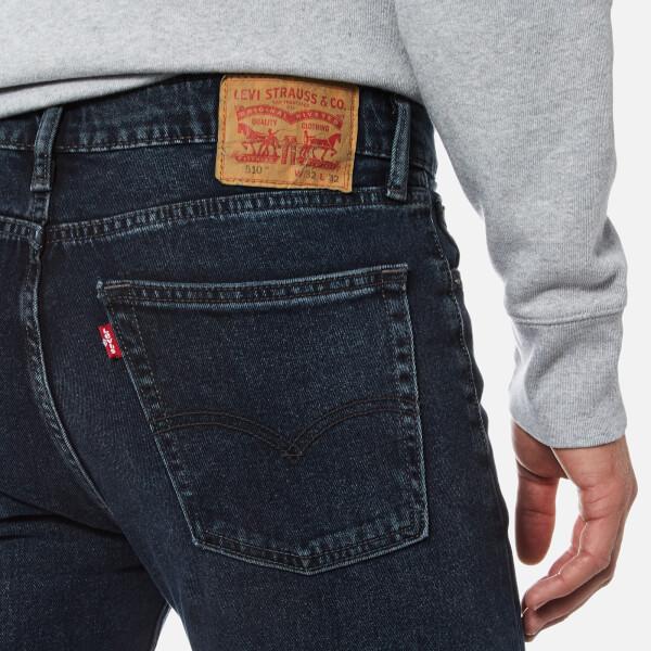 levis mens 510 skinny fit jeans night shift mens
