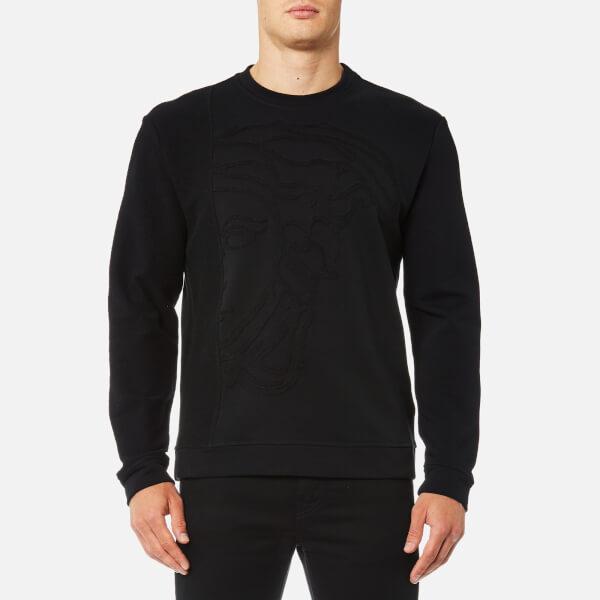 Versace Collection Men's Medusa Logo Sweatshirt - Nero