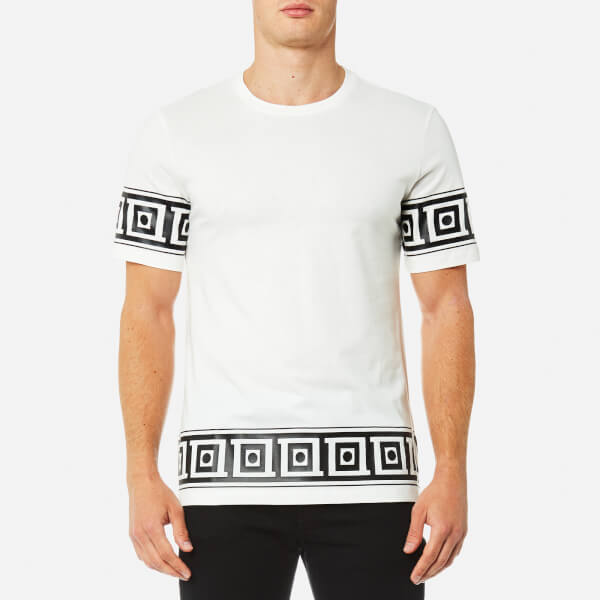 Versace Collection Men's Sleeve Detail T-Shirt - Bianco+Stampa