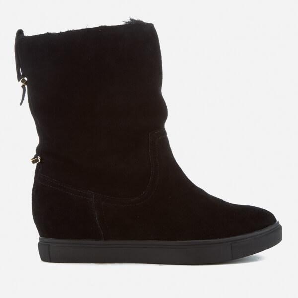 KG Kurt Geiger Women's Scorpio Suede Faux Fur Lined Boots - Black